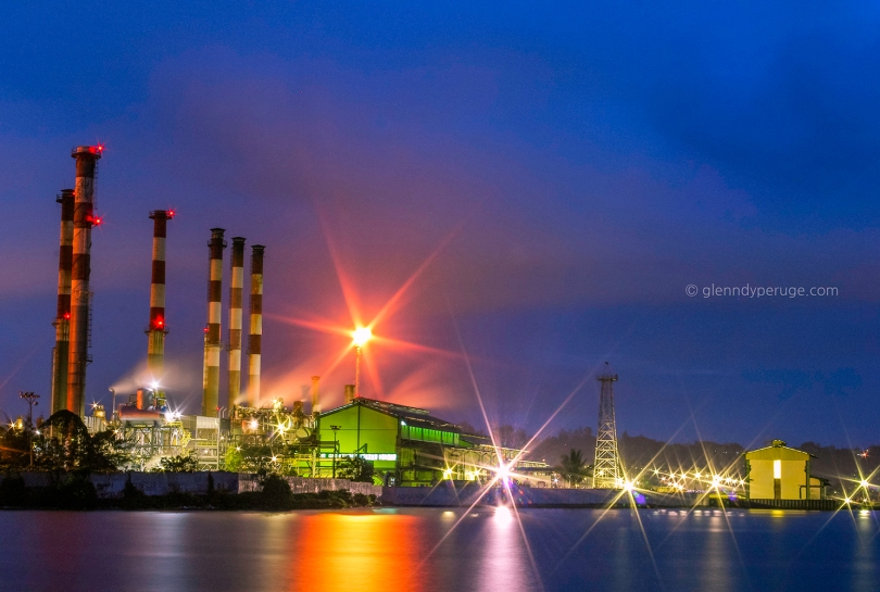 Night at Oil Plant